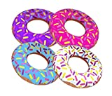 """Inflatable Donuts 24"""" - Pack Of 4 Delicious Looking Sprinkle Donut Inflatables"""