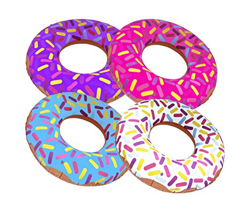 "Inflatable Donuts 24"" - Pack Of 4 Delicious Looking Sprinkle Donut ()"