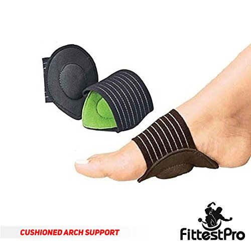 Fittest Pro Foot Sleeve, Plantar Fasciitis Heel Protectors, Arch Support Therapy Wrap, Cushioned Heel Support - Ankle Foot Pain Relief Sock Bundle (Pack of 8) (Small/Medium) by Fittest Pro (Image #1)