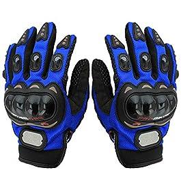 Adroitz – AD-PROBIKE-GLOVE-BLUE-XL-03 Pro Biker Full Finger Bike Riding Gloves for Mens (Size-XL)-Blue