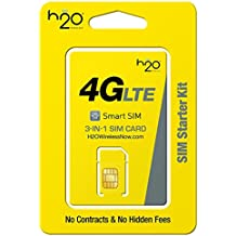 H2O Wireless Micro Sim Card with First Month Included : $30 Plan H20 Micro & Standard Size