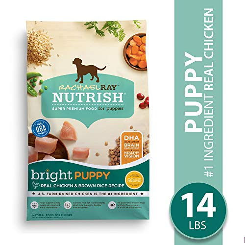 Rachael Ray Nutrish Bright Puppy Natural Premium Dry Dog Food, Real Chicken & Brown Rice Recipe, 14 Lbs