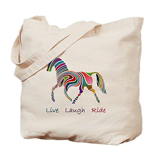 (CafePress Rainbow Horse Gift Natural Canvas Tote Bag, Cloth Shopping Bag)