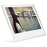 Woodmin Acrylic Slant Photo Frame for Fujifilm Instax Wide 300, Wide 210 films and other 5-inch films, Sign Holders Vertical (1 pcs)