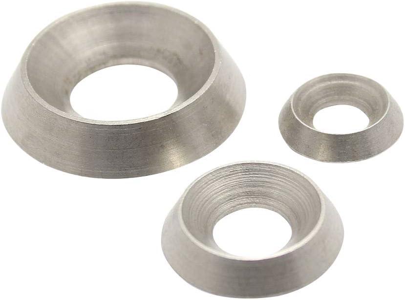 in acciaio INOX A1 Rosette Items/® per M3 fino a M12 viti e rondelle svasate VA D completamente in metallo con rondelle decorative