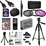 """47th Street Photo Must Have Accessory Kit for the Canon Rebel T2i, T3i, T4i, T5i, 650D, 700D, Kiss X5 Kiss X4, KissX6i, Kiss X7i, EOS 550D, 600D - Kit Includes: 32GB High-Speed SDHC Card + Card Reader + Extra Battery + Travel Charger + 58MM 3 Piece Pro Filter Kit (UV, CPL, FLD Lens) + HDMI Cable + Padded Gadget Bag + Remote Control + Professional 60"""" Tripod + Lens Cleaning Pen + Stabilizing Handgrip Strap + Cleaning Kit + DSLR Camera Intro DVD Photo Print + More"""
