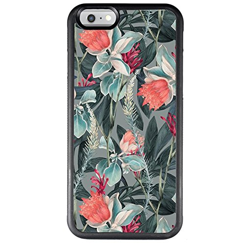 iPhone 6s 6 Case with Beautiful Flower Pattern,Amusing Whimsical Design Bumper Case ,Black Thin TPU and PC Protection Soft Cover Anti-Scratch &Fingerprint Shock Proof Case