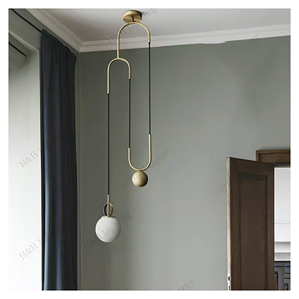 PPWAN ペンダントライト - 照明マジックビーンズポストモダンシンプル分子吊りランプ器具レストラン寝室 - シャンデリア 9902 B07T9K41SQ