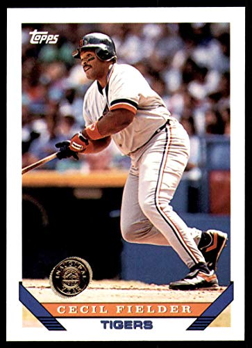 - Baseball MLB 1993 Topps Inaugural Logo 80 CECIL FIELDER - TIGERS Both Rockies & Marlins