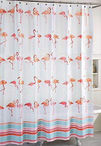 CHF Destinations Flamingo Shower Curtain One Size White multi