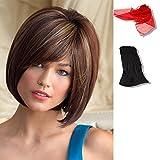 Bundle - 3 items: Jolie by Noriko, Chiffon Scarf, Black Wig Cap Liner, Color Chosen: Mocha-H