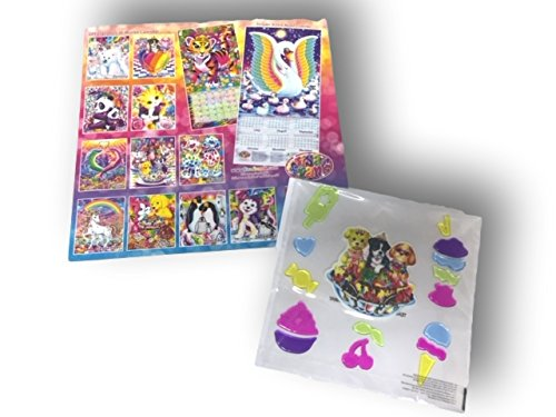 Lisa Frank Colorful Calendar with Matching Window Clings