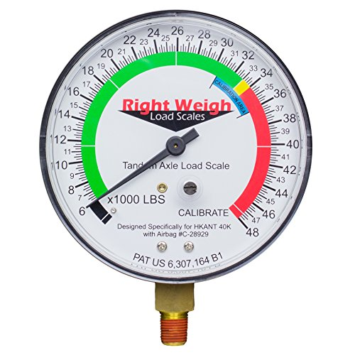 Right Weigh Replacement Gauge 310-HKANT40K-GO (Gauge Only) Tandem Axle Load Scale for Hendrickson VANTRAAX HKANT40K, and ULTRAA-K UTKNT 40K Air -