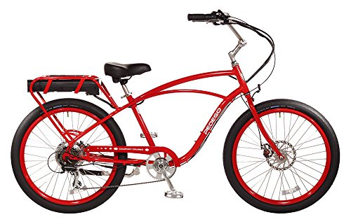 "Pedego Comfort Cruiser 26"" Classic Red with Black Balloon Package 36V 15Ah"