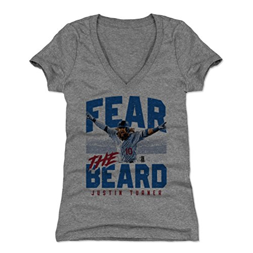 500 LEVEL Justin Turner Women's Shirt – Los Angeles Baseball Women's Apparel – Justin Turner Fear The Beard – DiZiSports Store