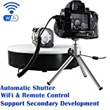 Automatic shutter,Control with WiFi Open API ,ComXim 360 Degree Electric Rotating Turntable for Photography, 250 Lb Capacity. Perfect for 360 Degree Images, Product Display or Cake Display