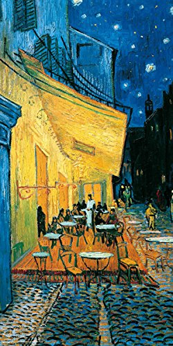 Vincent Van Gogh Pavement Cafe at Night Decorative Fine Art Print (Unframed 12x24 Poster)