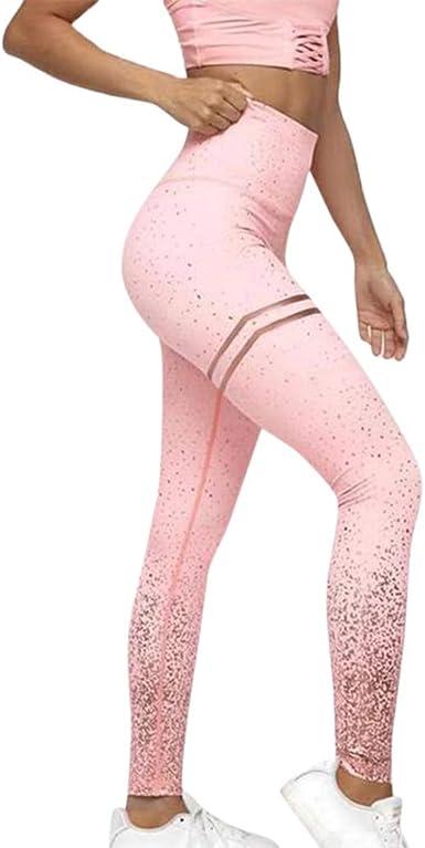 XL, Hot Pink Womens Yoga Capri Pants Womens Fashion Workout Leggings Fitness Sports Gym Running Yoga Athletic Pants