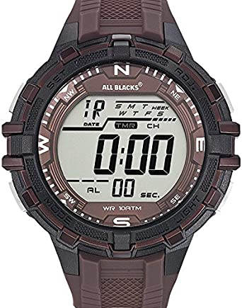 All Blacks 680227 - Reloj de Pulsera Hombre, plástico, Color marrón