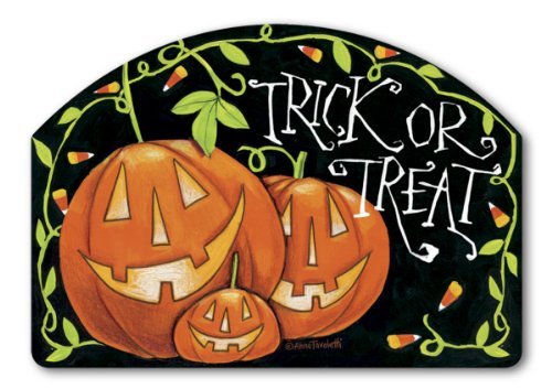 [Yard Design Halloween Treat Yard Sign 76354] (Halloween Yard)