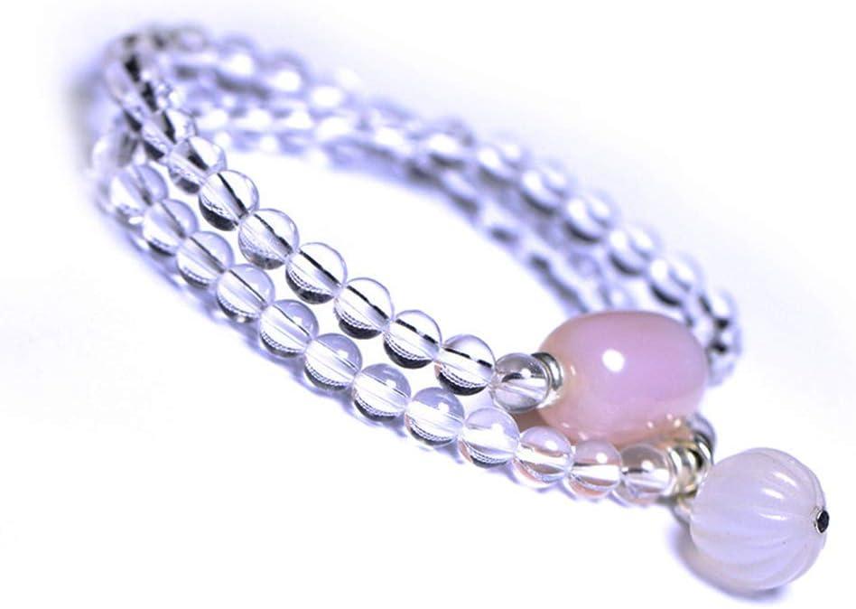 J.Memi's Pulsera Cristal Piedra Preciosa Natural Cuentas Diseño De Doble Circulo Amuleto De Curación Elasticidad Joyeria Cumpleaños Regalo