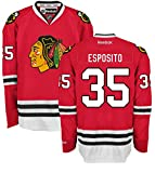 Tony Esposito Chicago Blackhawks Home Red Premier Jersey by Reebok 3X-large