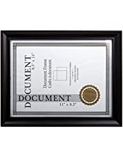 Truu Design Classic Diploma Frame for Documents and Certificates, 8.5 x 11 inches, Black
