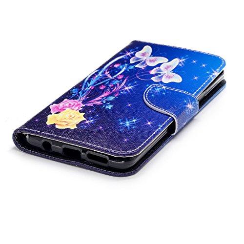 Galaxy d'impression Flip aérosol en avec Samsung de pour PU protection Plus support conception magnétique peint dance cas cuir Hozor S9 fermeture carte portefeuille en Butterfly étui avec fente nY5q7xqf6