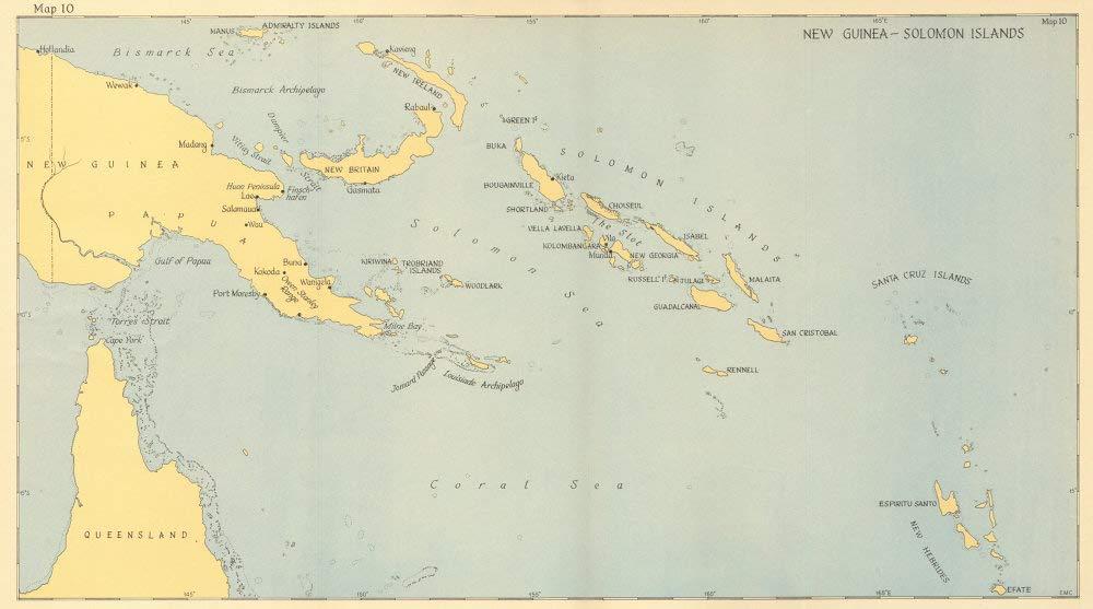 Amazon.com: New Guinea-Solomon Islands 1942/3. Pacific ...