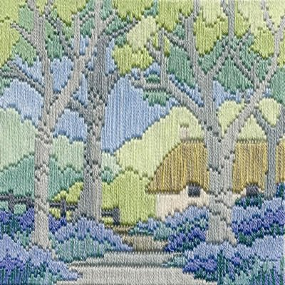 Derwentwater Designs Bluebell Cottage Long Stitch Kit