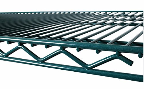 Commercial Green Epoxy Coated Wire Shelving 24 x 60 (2 Shelves) - NSF (Epoxy Coated Shelf Post)
