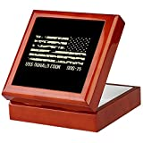 uss donald cook - CafePress - USS Donald Cook - Keepsake Box, Finished Hardwood Jewelry Box, Velvet Lined Memento Box