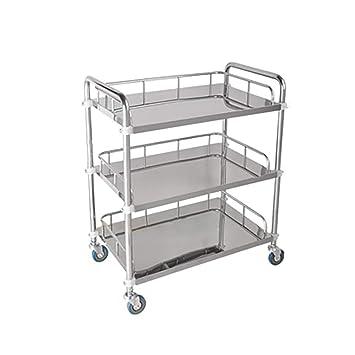 Trolley de tratamiento de acero inoxidable de 3 estantes   Servicio de servicio de compra   Coche ...