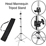 Koval Inc. Adjustable Metal Mannequin Tripod Stand for Hair Salon Cosmetology with Lightweight Carry Bag