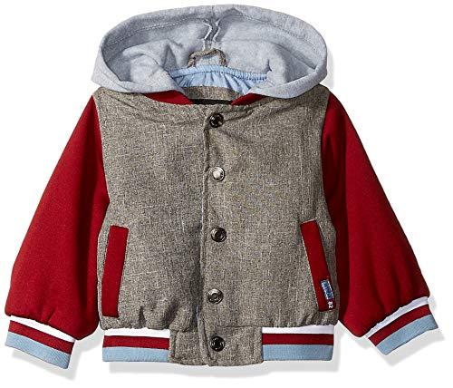 iXtreme Baby Boys Varsity Jacket with Fleece Hood, Burgundy, - Trim Brg