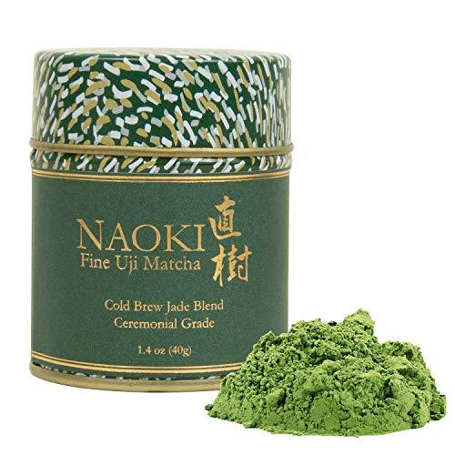 Naoki Matcha (Cold Brew Jade Blend, 40g / 1.4oz) Authentic Japanese Matcha Green Tea Powder Ceremonial Grade from Wazuka, Uji Kyoto, Japan