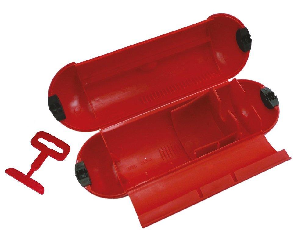 Poly Pool pp2601 coquille impermé able pour protection de la jonction fiche –  prise en milieux exté rieur IP44 avec crochet, rouge Polypool