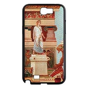 Samsung Galaxy N2 7100 Cell Phone Case Black Greek Art Jdcwd
