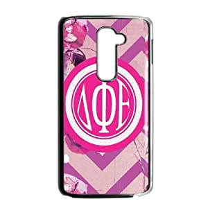 LG G2 Cell Phone Case Black Delta Phi Epsilon Flowers SLI_536565