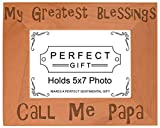ThisWear Blessings Call Me Papa Natural Wood Engraved 5×7 Landscape Picture Frame Wood Review