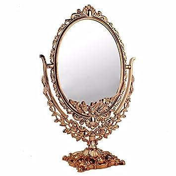 Vintage Mirror Cosmetic Makeup Antique Retro Vanity Decorative Glass