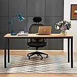 "Need Computer Desk 63"" Large Size Desk Dining Table Writing Desk with BIFMA Certification Workstation Office Desk, Teak&Black AC3BB-160-CA"