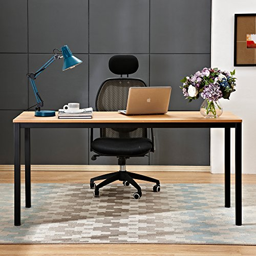 - Need Computer Desk 63 inches Large Size Desk Gaming Desk Writing Desk with BIFMA Certification Workstation Office Desk,Teak Black AC3BB-160
