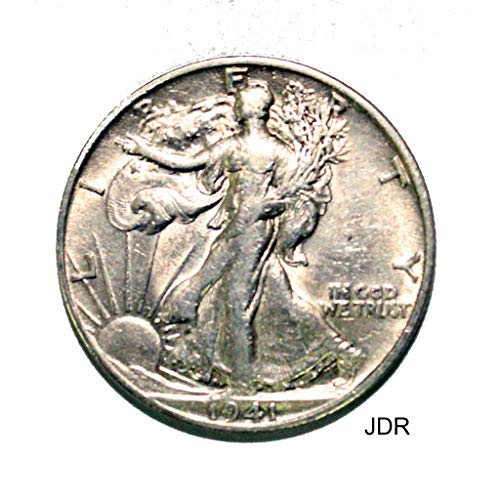 1941 D Walking Liberty Half Dollar 50c Average Circulated
