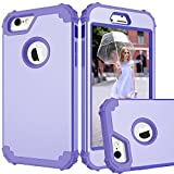 MAXCURY Case for iPhone 6, iPhone 6s Case, 3 in 1 Shockproof Slim Hybrid Hard PC Soft Silicone Rugged Rubber Bumper Full Body Protective Case Cover for iPhone 6/6S (4.7 inch) (Lilac)