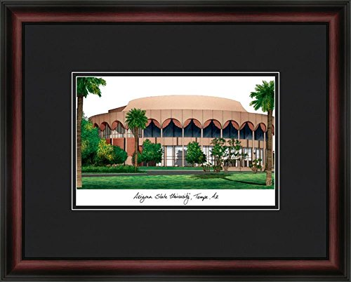State Lithograph Framed University Arizona (Landmark Publishing Arizona State University Framed & Matted Campus Picture)
