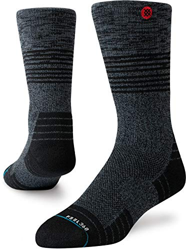 Stance Uncommon Cinder Hike Crew Sock - Men's Black Large