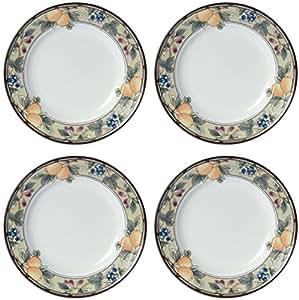 Mikasa Intaglio Garden Harvest China Dinner Plates Set Of 4 Dinner Plates