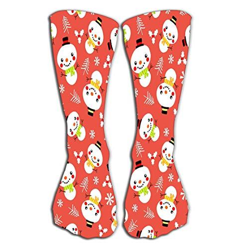 "Xunulyn Socks 19.7""(50cm) Women Luxury Cotton Colorful Cool Fun Socks Cute Snowman Lovely mas Concept Cute Snowman Inked"