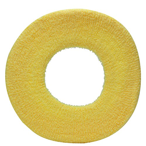 60%OFF Refaxi Toilet Seat Cover - Super Warm Fleece - Retaining Ring - Universal Fit - Machine Washable (2x Yellow)